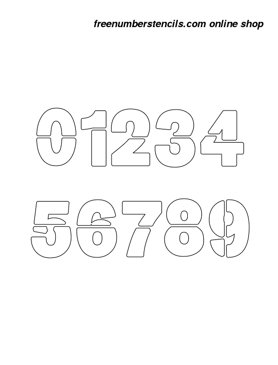 photo regarding Free Printable Number Stencils identified as 1 Inch Weighty Formidable Formidable Quantity Stencils 0 towards 9
