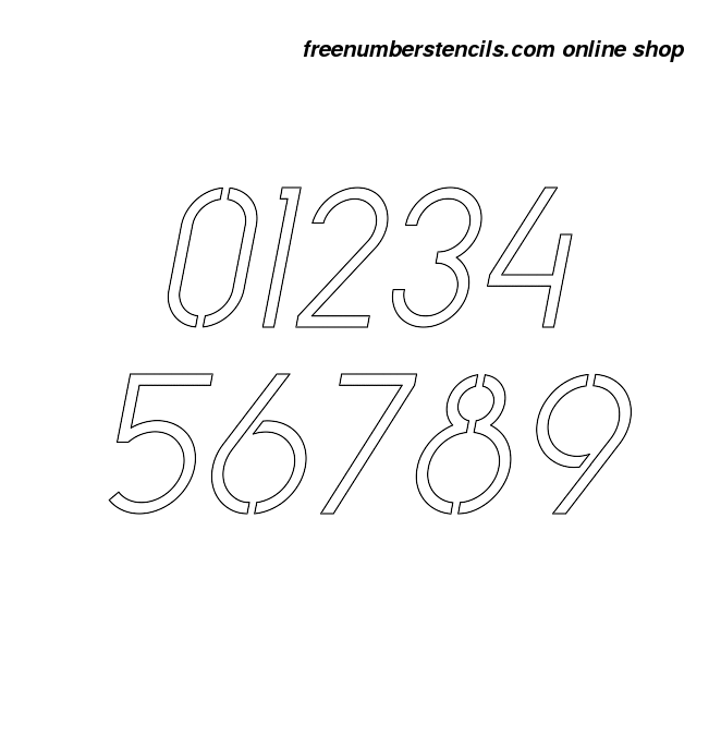 you can download a free printable copy of simple italic number stencil design here