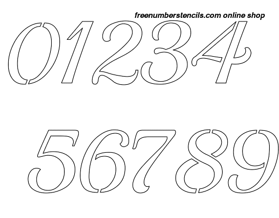Remarkable image for printable number stencil