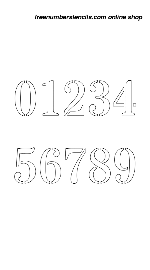 image relating to 3 Inch Number Stencils Printable Free titled 3 Inch Business Navy Armed service Amount Stencils 0 towards 9