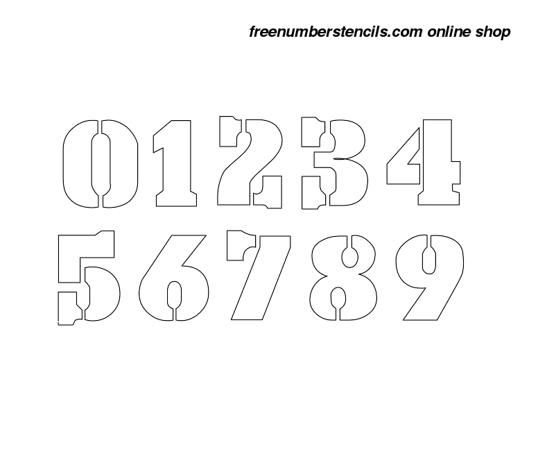 image about 3 Inch Number Stencils Printable Free identified as 3 Inch Armed forces Navy Amount Stencils 0 in the direction of 9