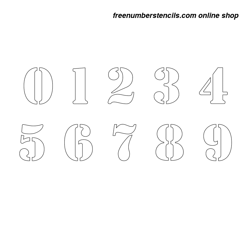 This is a picture of Rare Number Stencils Printable