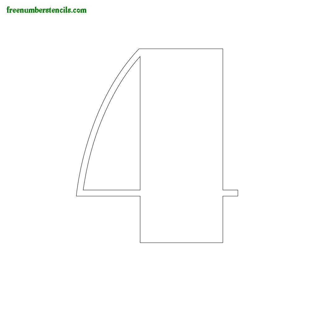 Art Style stencils to print online - Number 4