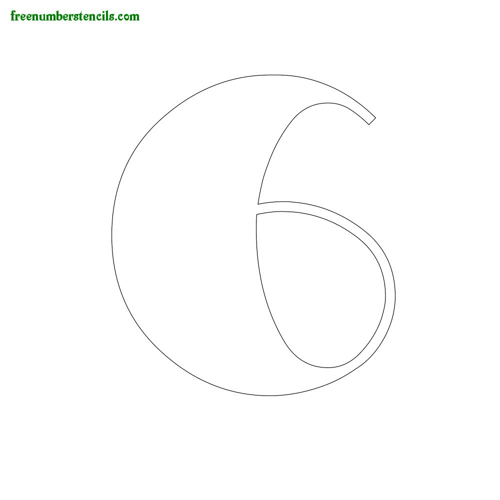 Art Style stencils to print online - Number 6