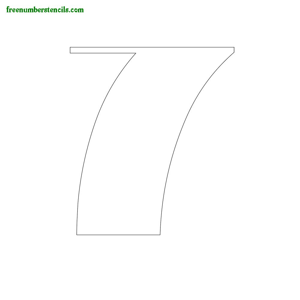 Art Style stencils to print online - Number 7
