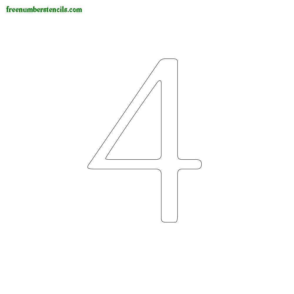 Classic Design stencils to print online - Number 4
