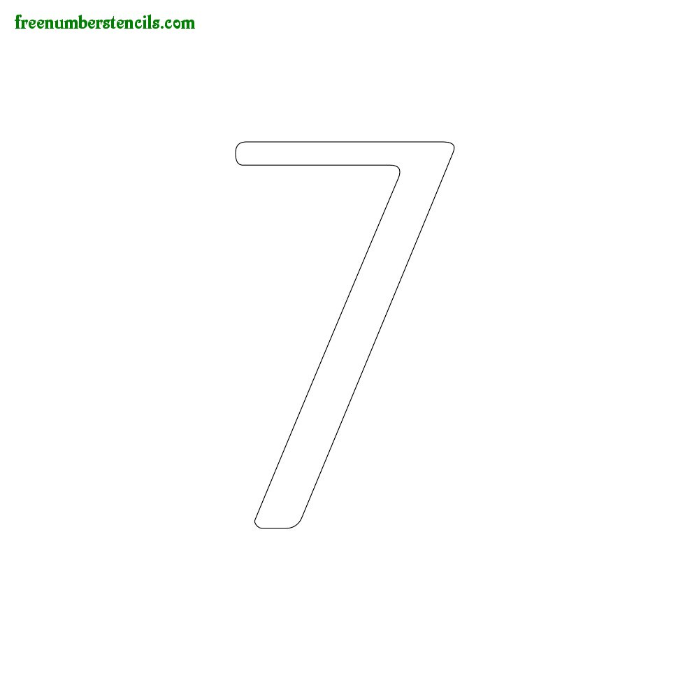 Classic Design stencils to print online - Number 7