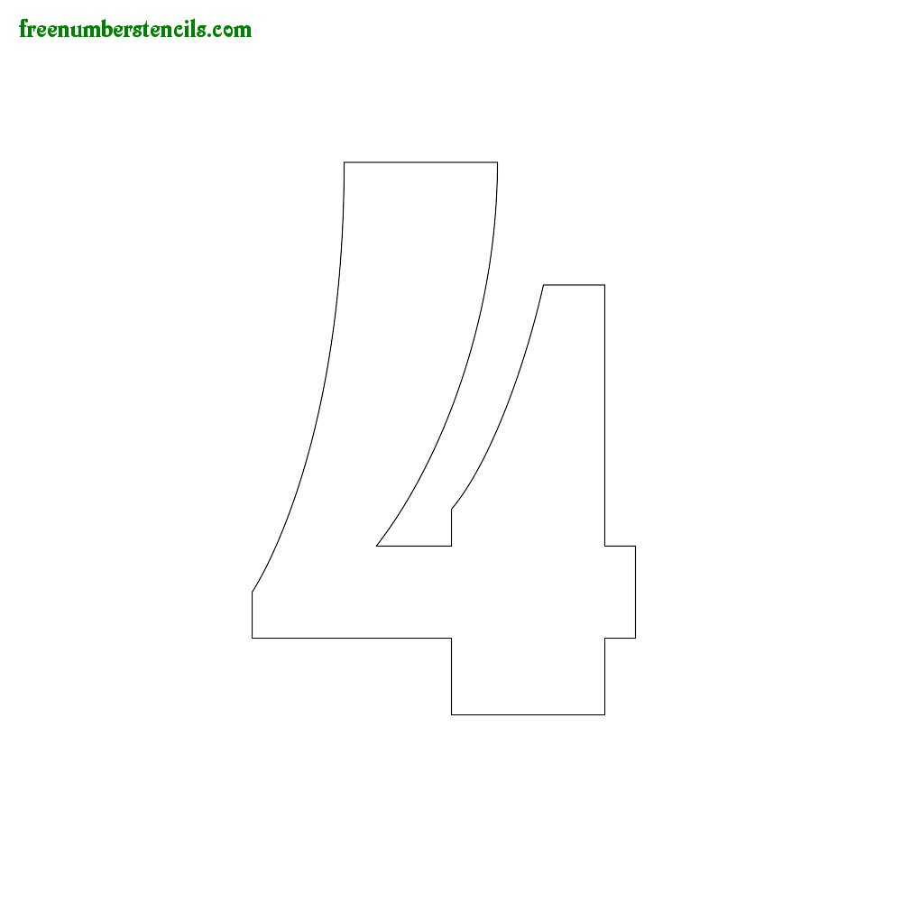image about Printable Number 4 referred to as Printable Ornamental Quantity Stencils 0 in the direction of 9