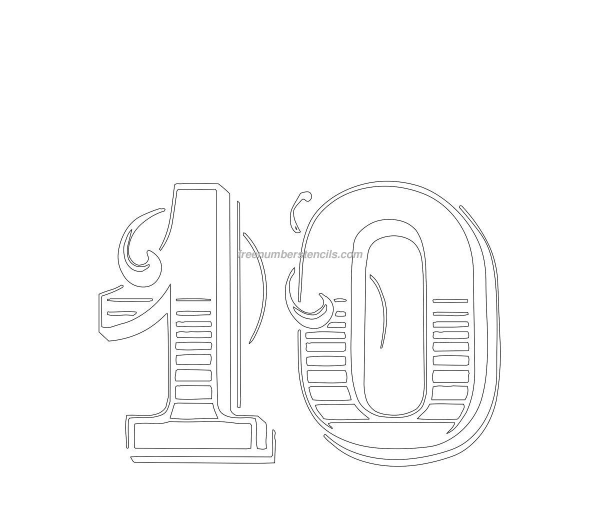 Image decorative number stencils download