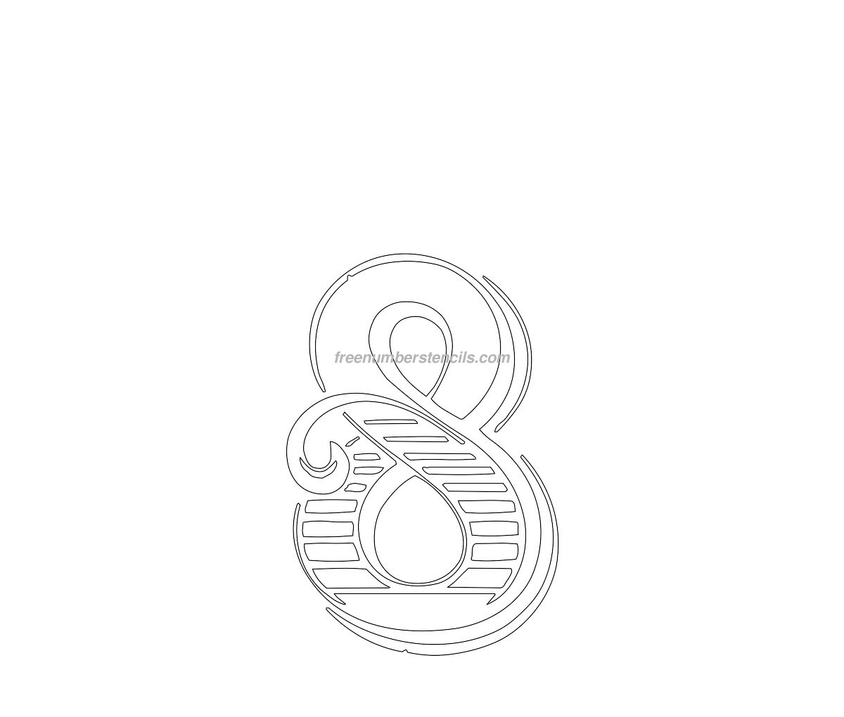 Free Decorative 8 Number Stencil - Freenumberstencils.com