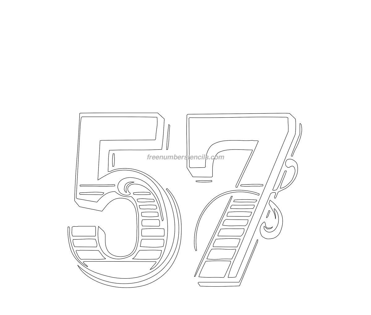 Free Decorative 57 Number Stencil Freenumberstencils Com