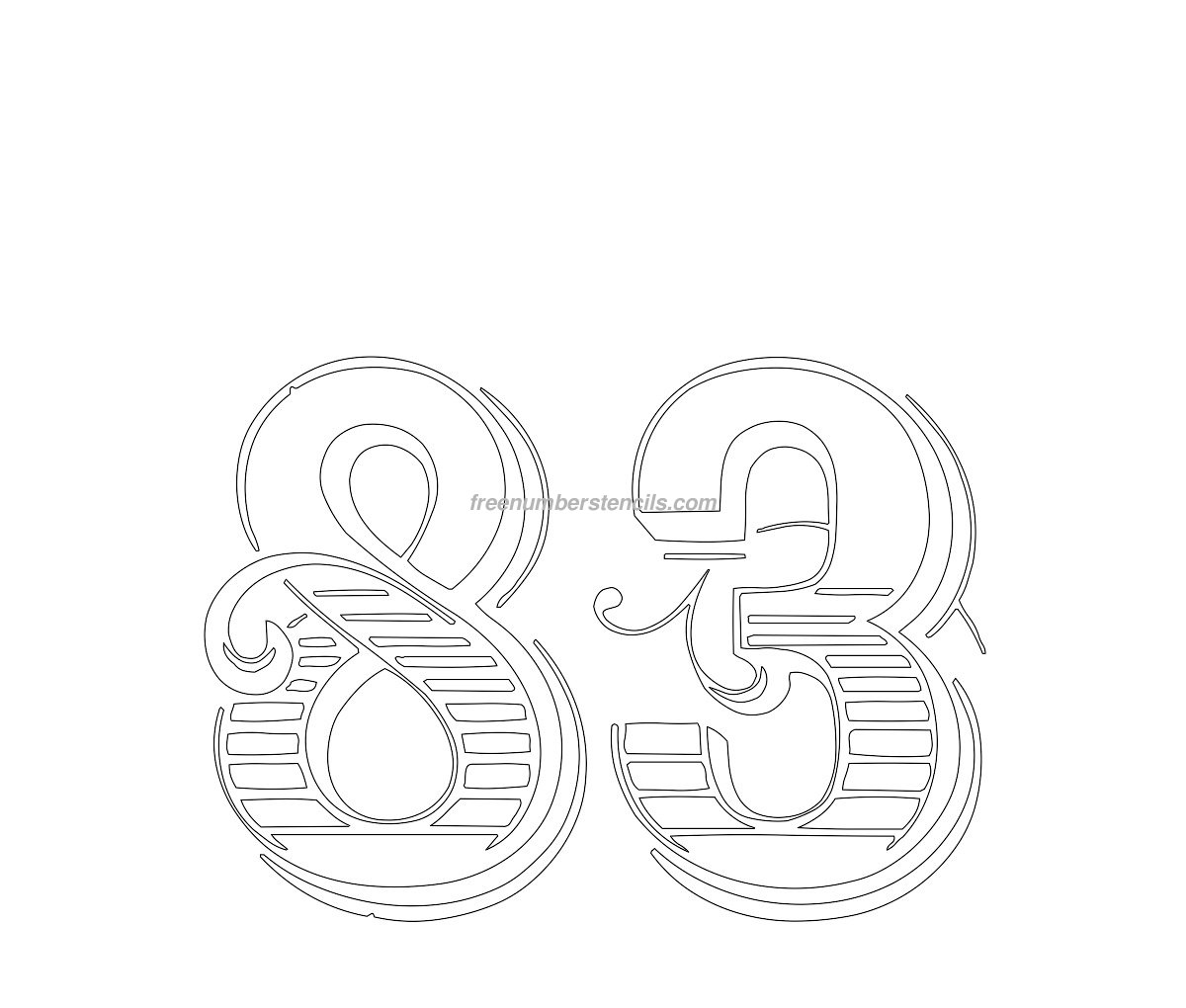 Download image decorative number stencils pc android iphone and ipad