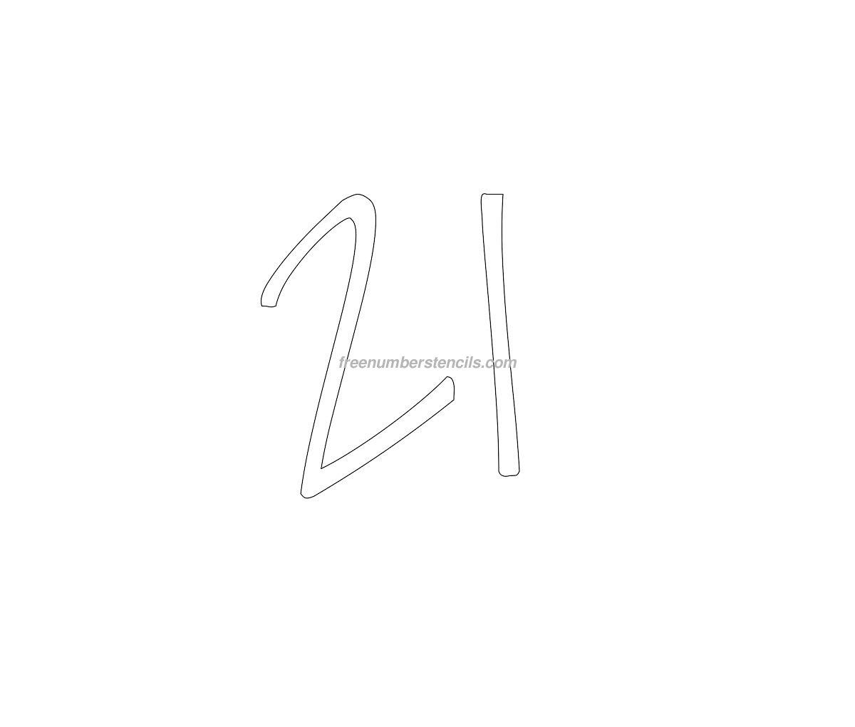 stencil-elegant-number21