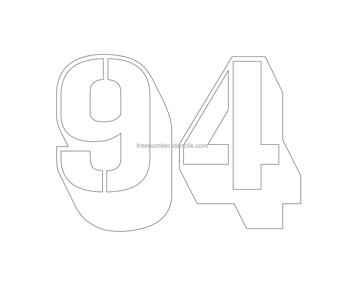 stencil-engraving-number-94