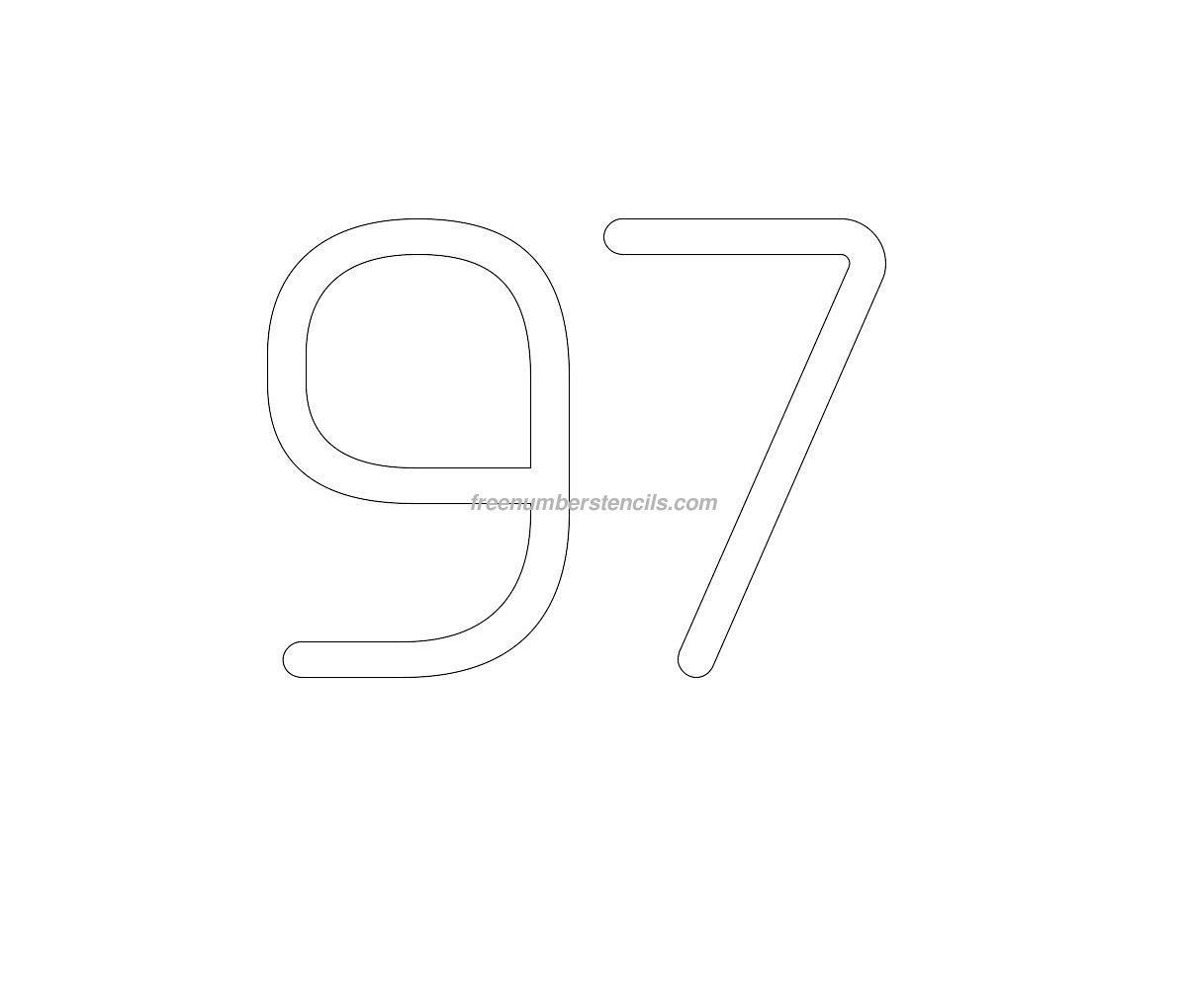 stencil-european-number-97
