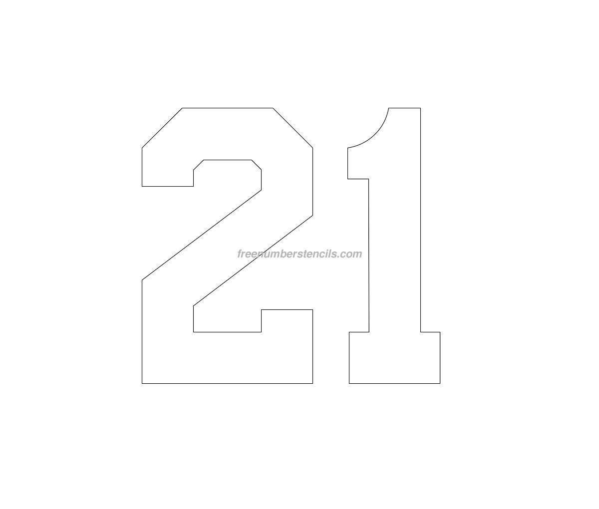 Stencil Football Kit Number 21