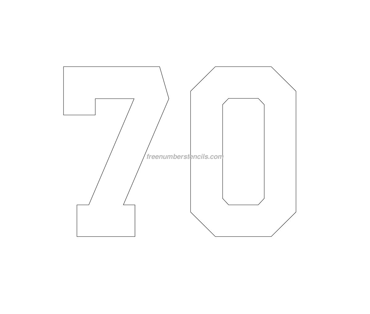 stencil-football-kit-number-70