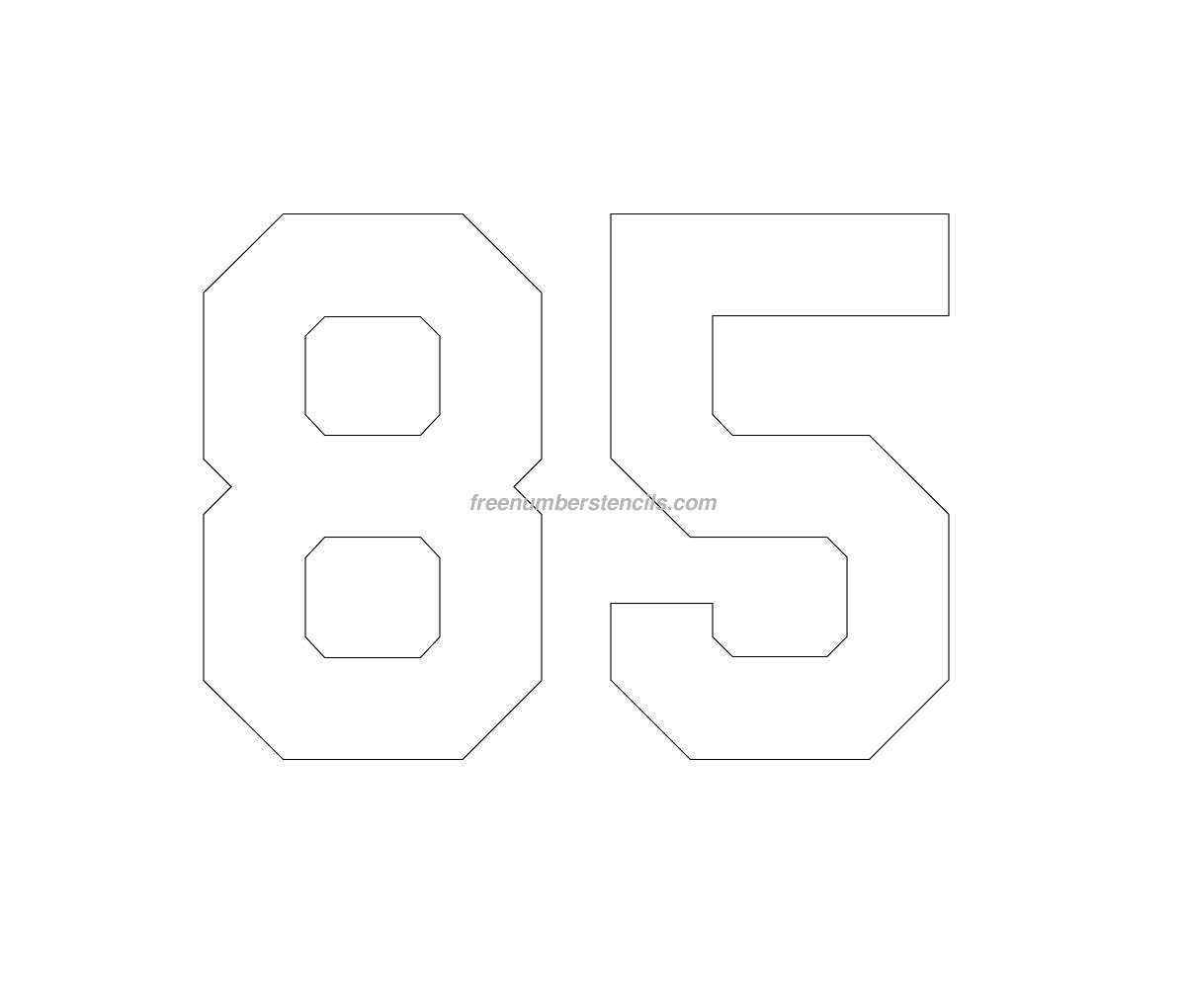 stencil-football-kit-number-85