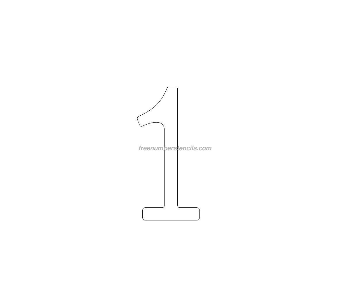 number 2 cake template - cake free 1 number stencil