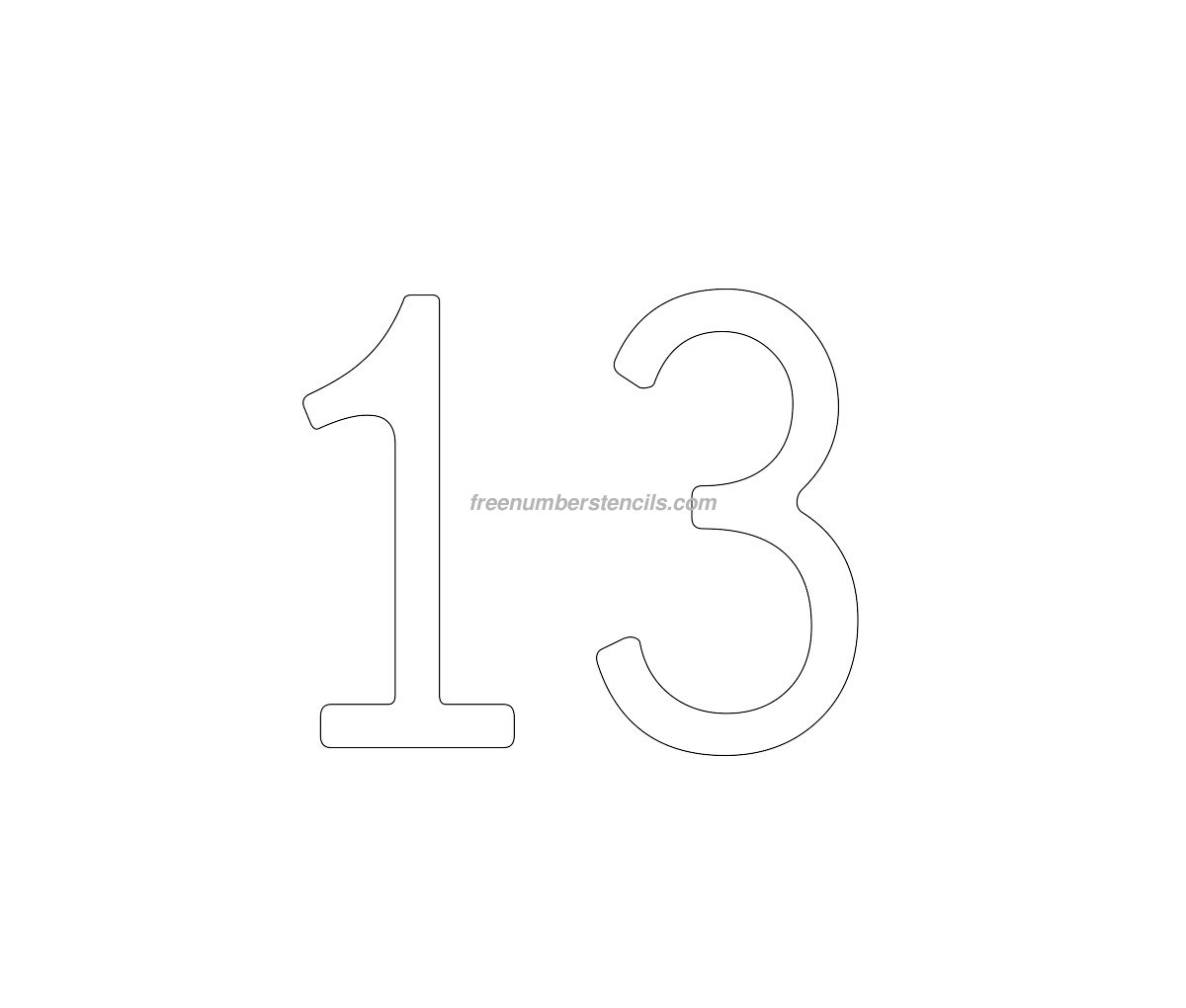 Cake free 13 number stencil for Number 3 cake template