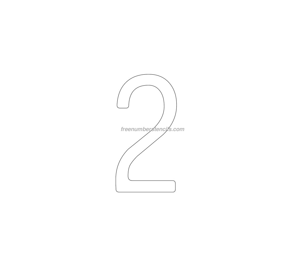 number 2 cake template - cake free 2 number stencil