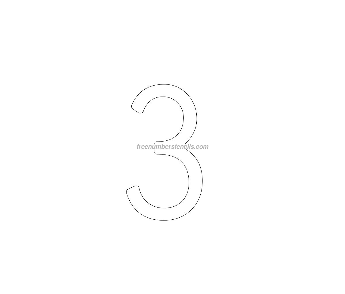 Cake free 3 number stencil for Number 3 cake template