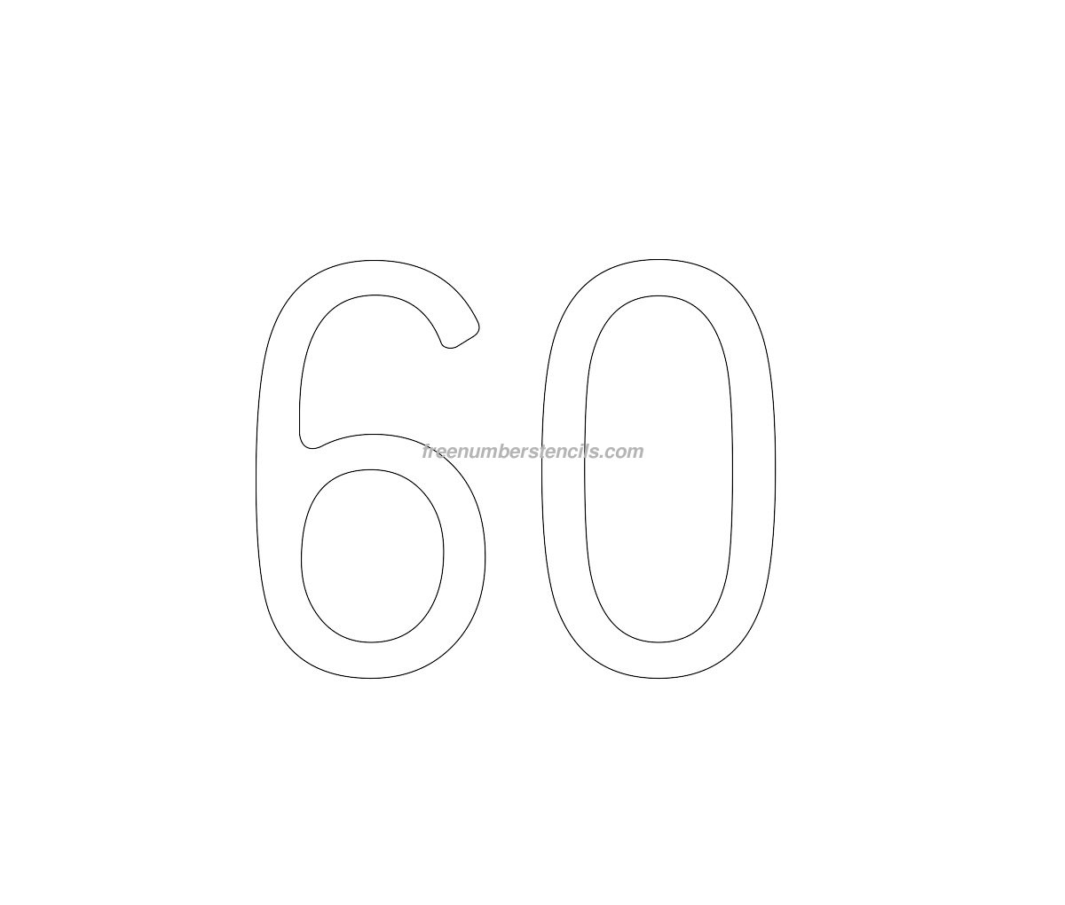cake free 60 number stencil