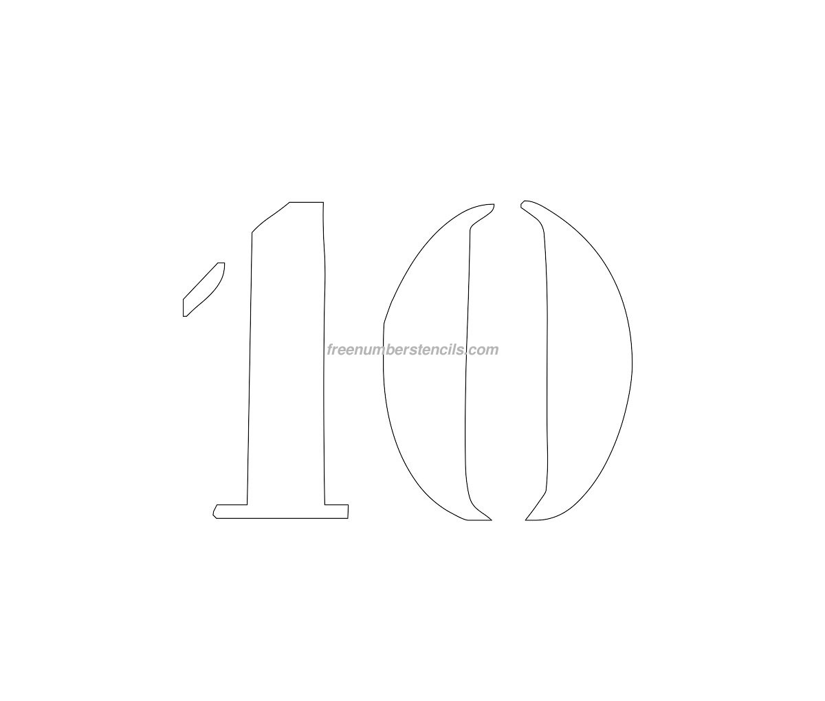 10: Free Curb Painting 10 Number Stencil