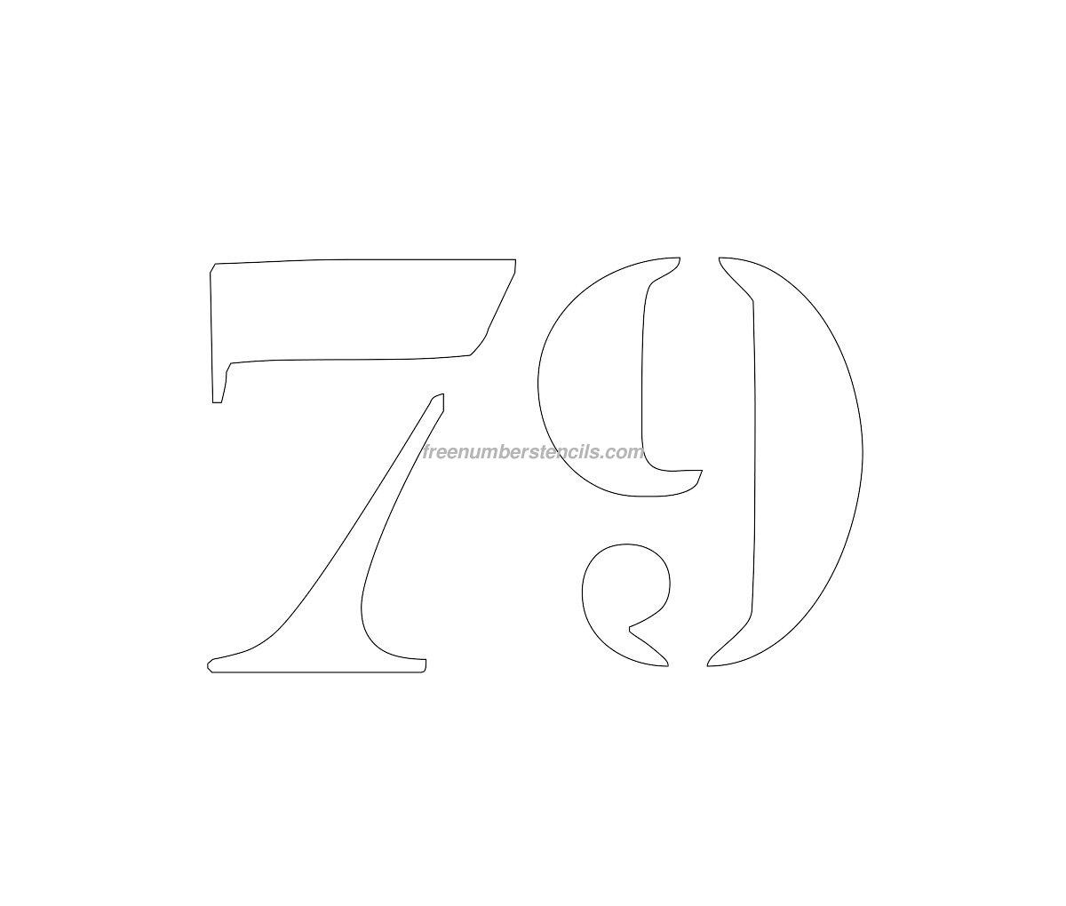 Free Curb Painting 79 Number Stencil Freenumberstencils Com