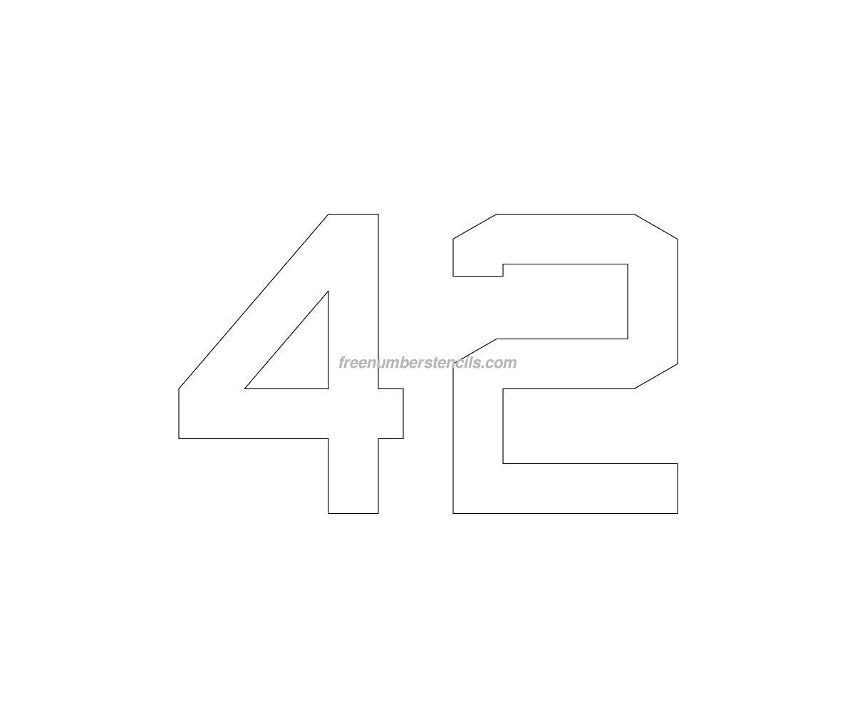 stencil-parking-lot-number-42