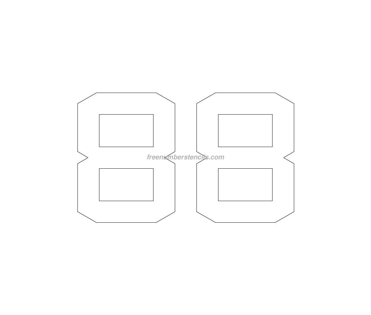 stencil-parking-lot-number-88