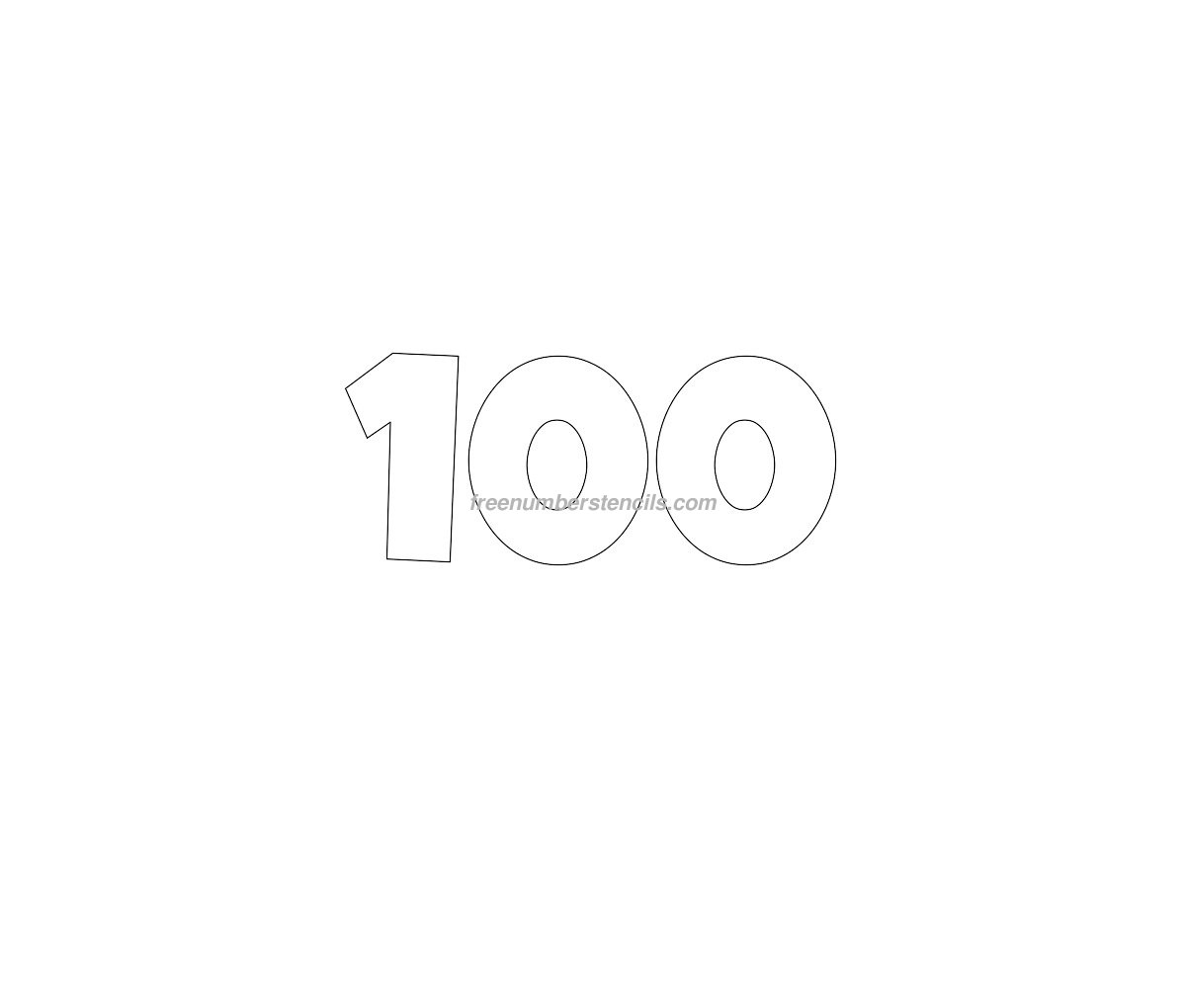 template for numbers 1 100 - free giant 100 number stencil