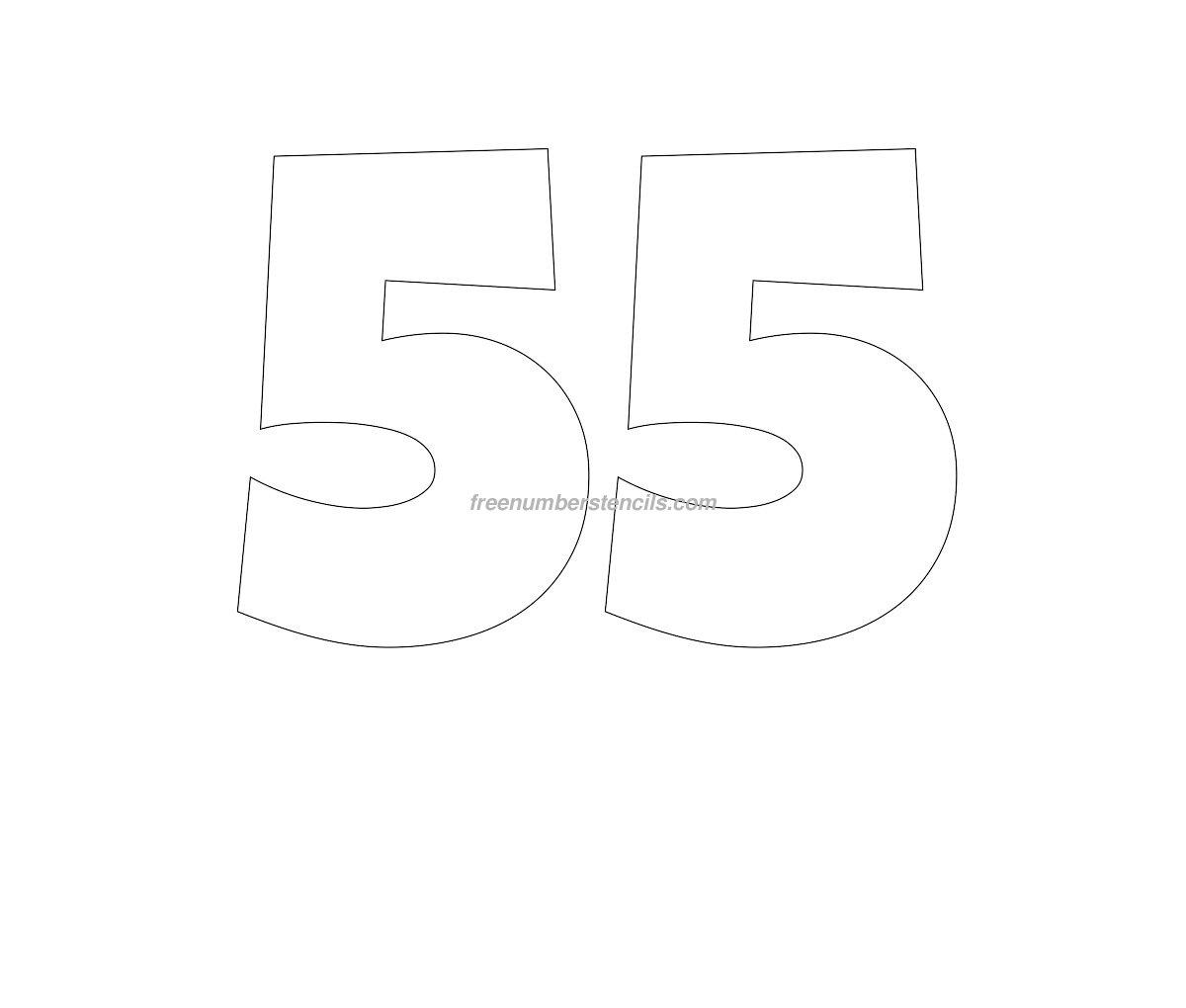 Трафареты цифр для вырезания 72