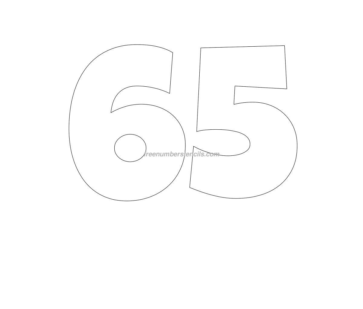Free Giant 65 Number Stencil Freenumberstencils Com