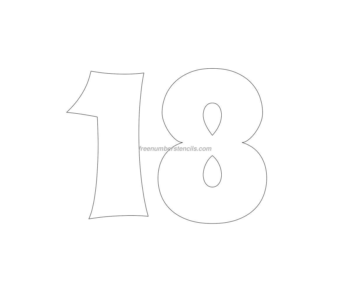 Free Groovy 18 Number Stencil Freenumberstencils – Number Template