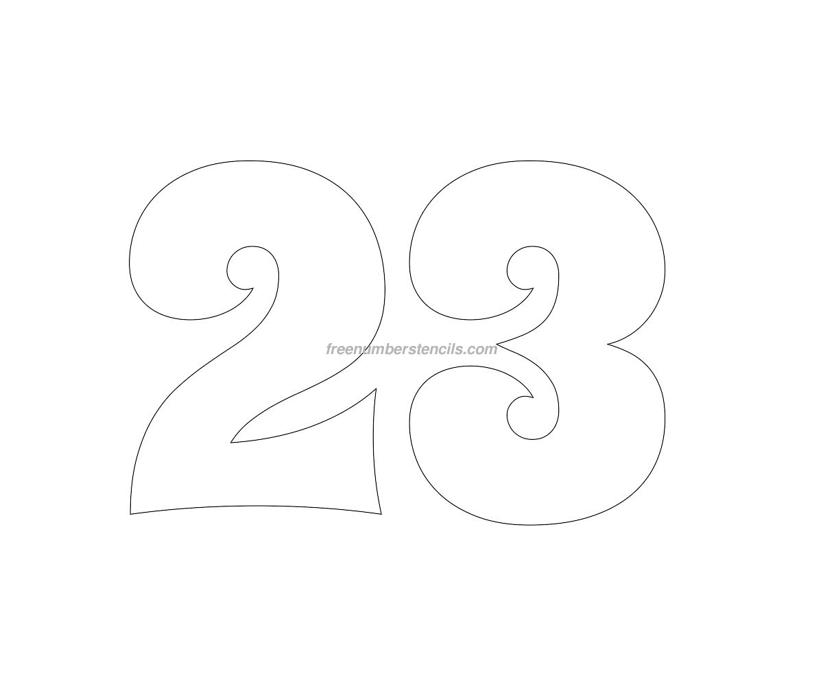 stencil-groovy-number-23