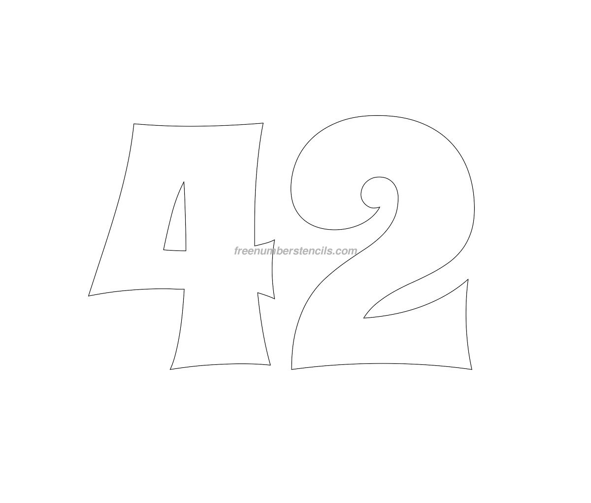stencil-groovy-number-42