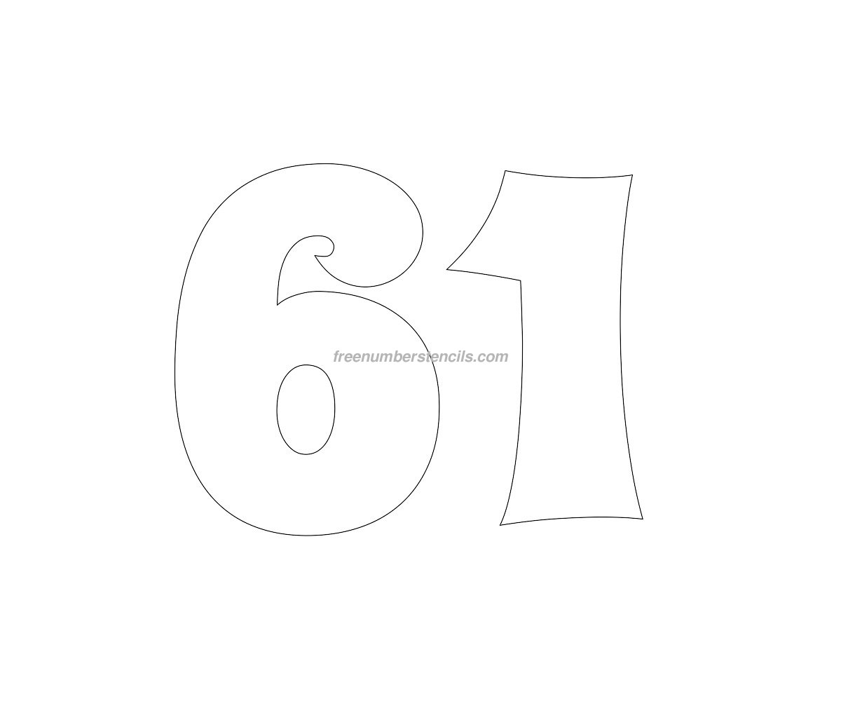stencil-groovy-number-61