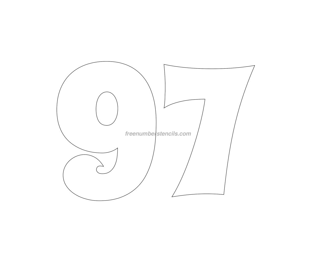 stencil-groovy-number-97