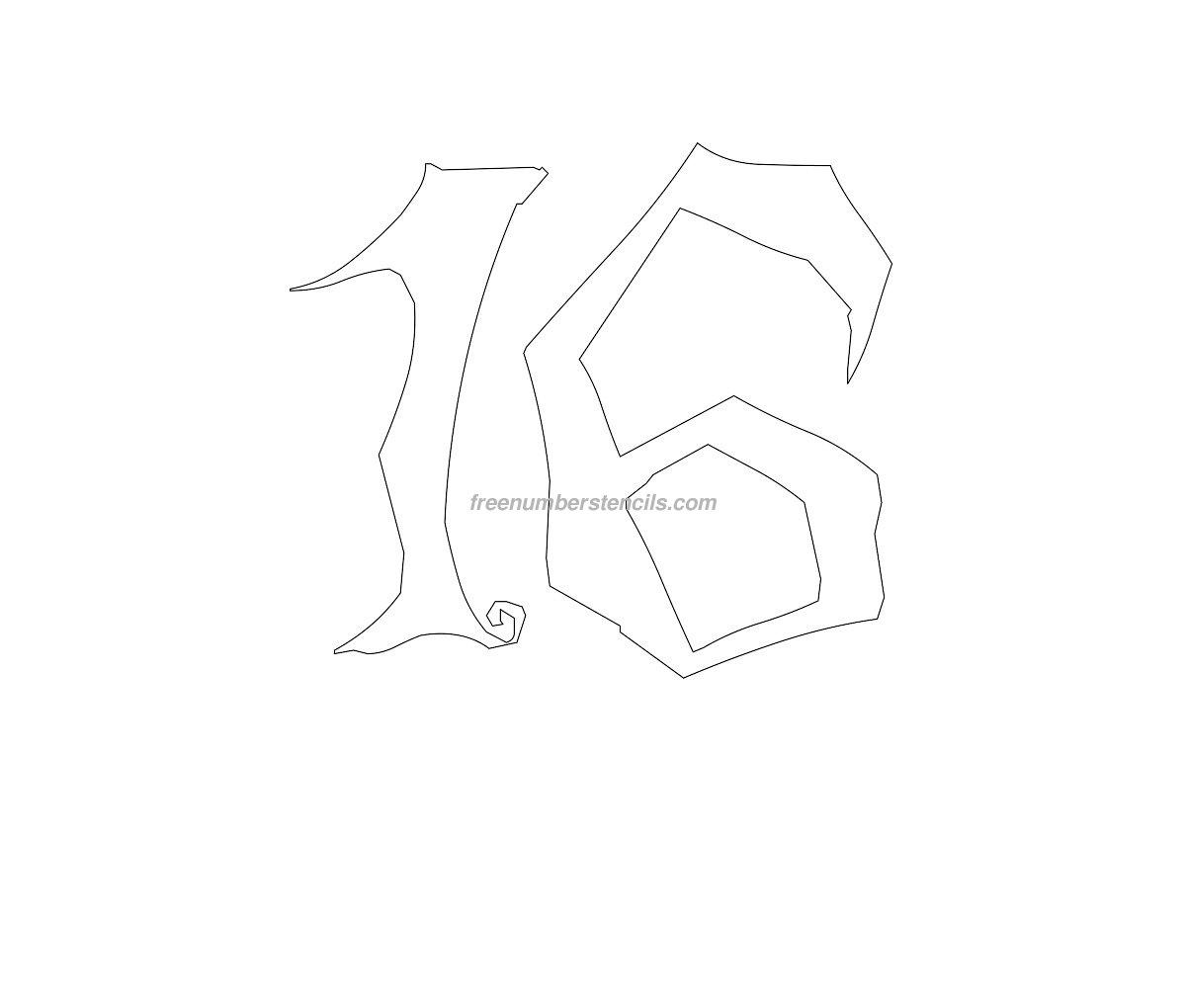 stencil-halloween-number16