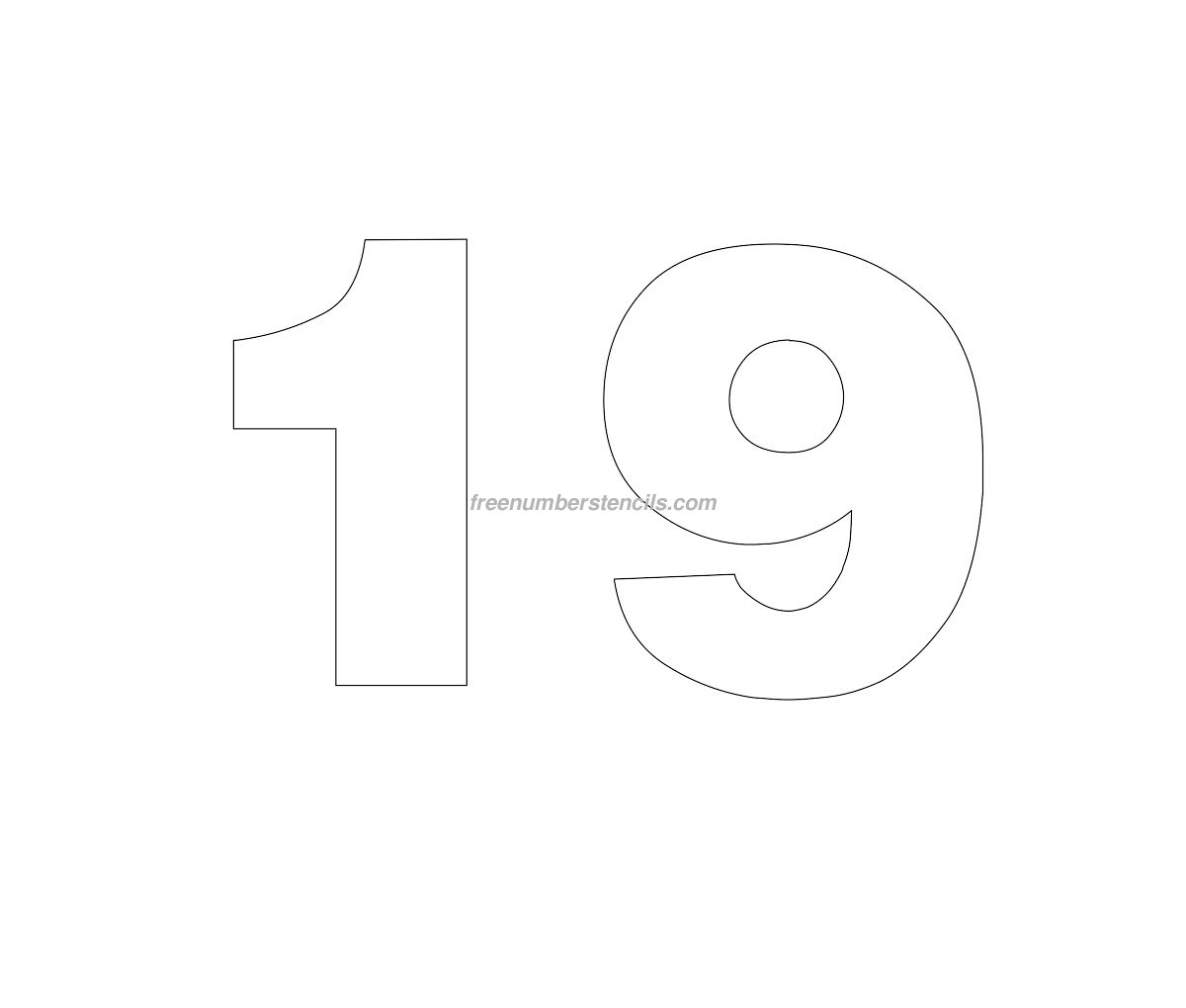Free cut out number stencils for Helvetica letter stencils