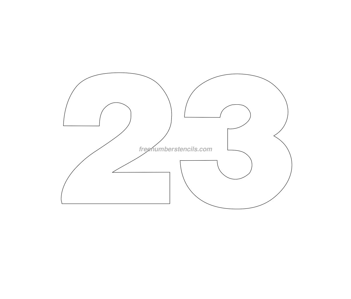 Free helvetica 23 number stencil for Free numbers templates