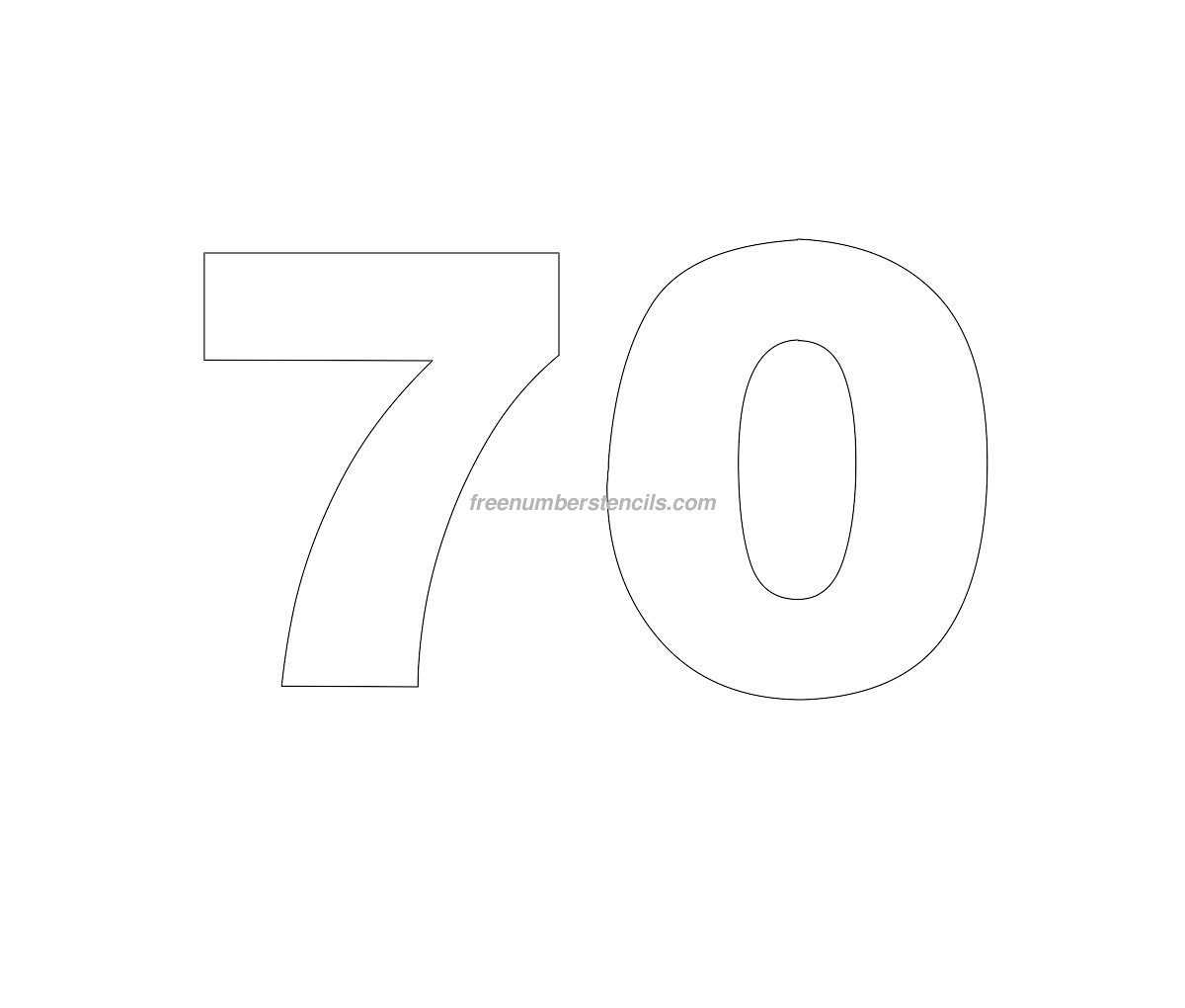 Free Helvetica 70 Number Stencil