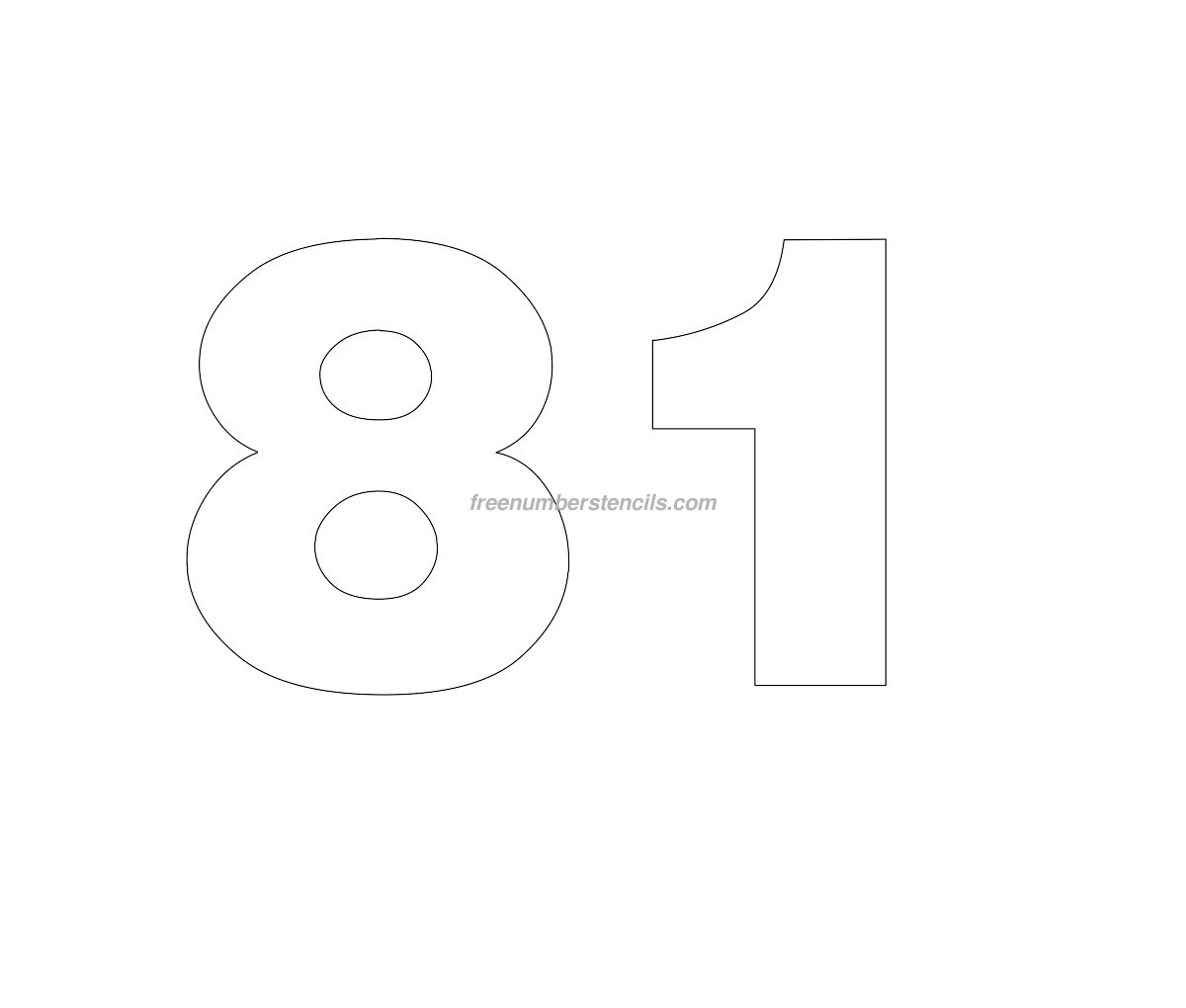 free numbers templates - free helvetica 81 number stencil