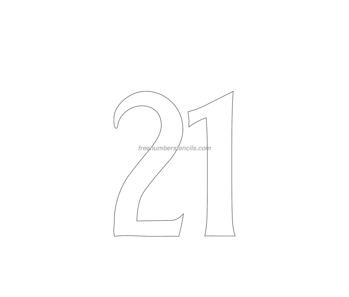free house 21 number stencil