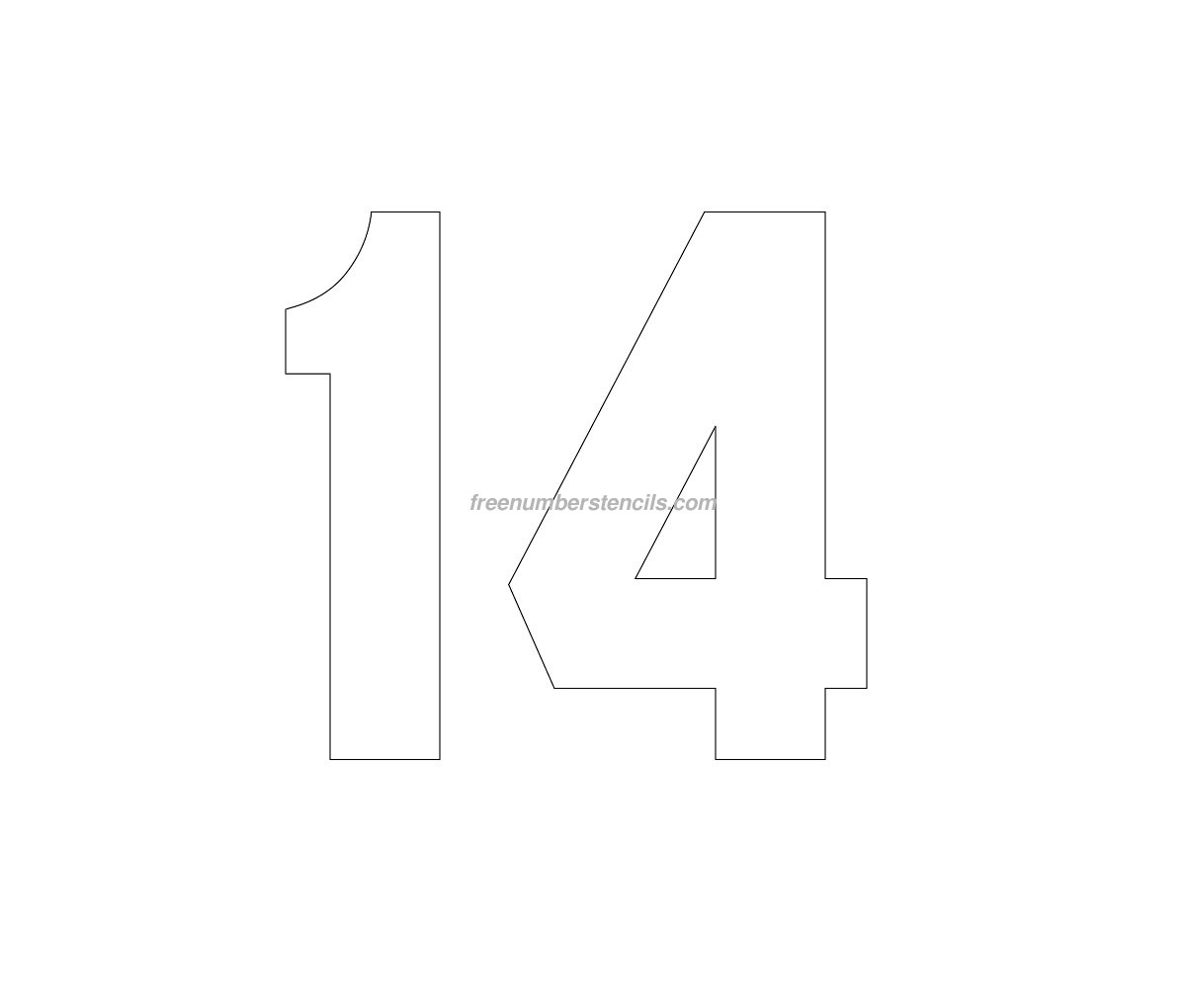 free jersey printable 14 number stencil