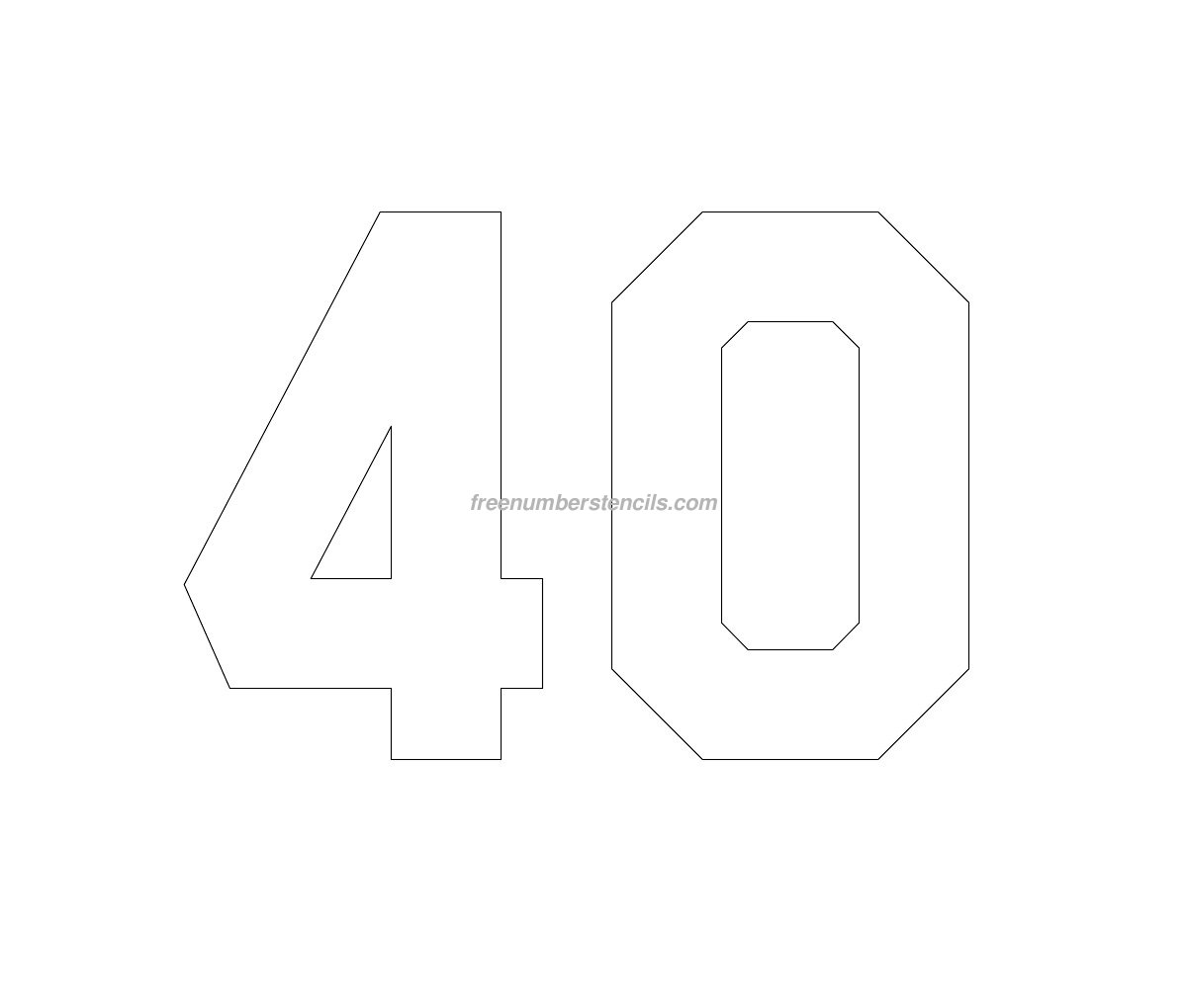 free jersey printable 40 number stencil freenumberstencils com