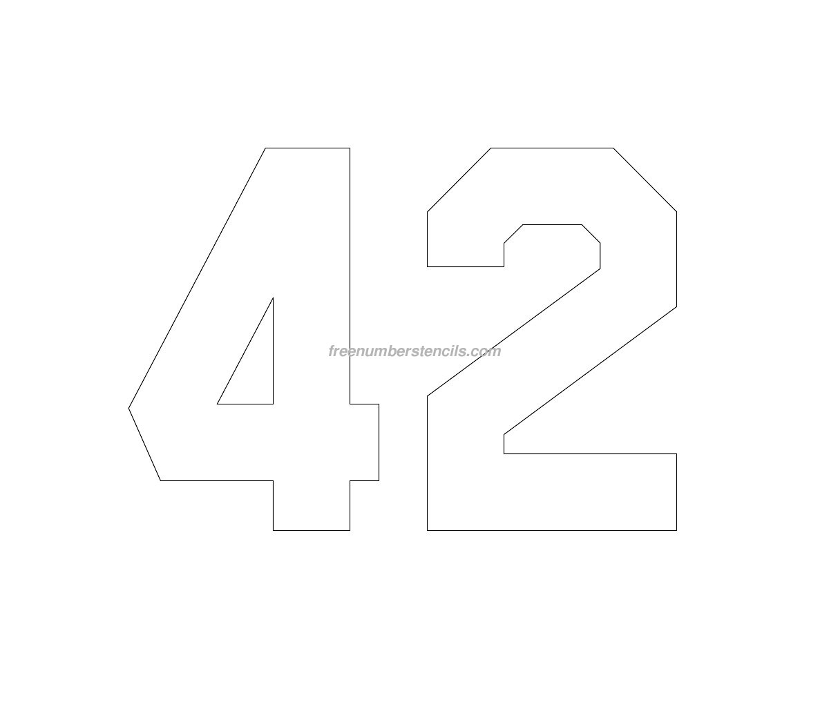 free number templates to print - free jersey printable 42 number stencil
