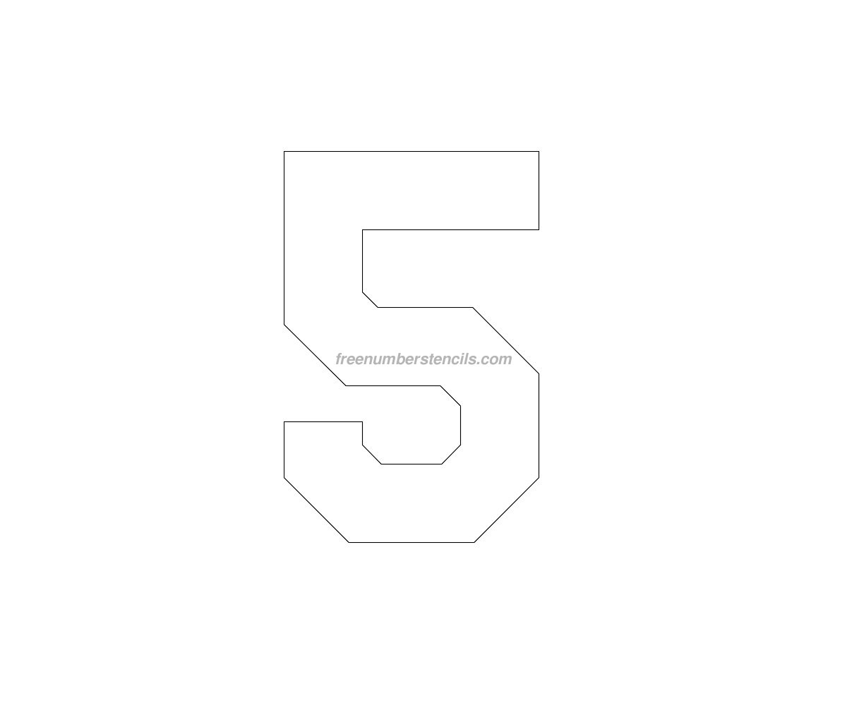 large printable number stencil 7 Success