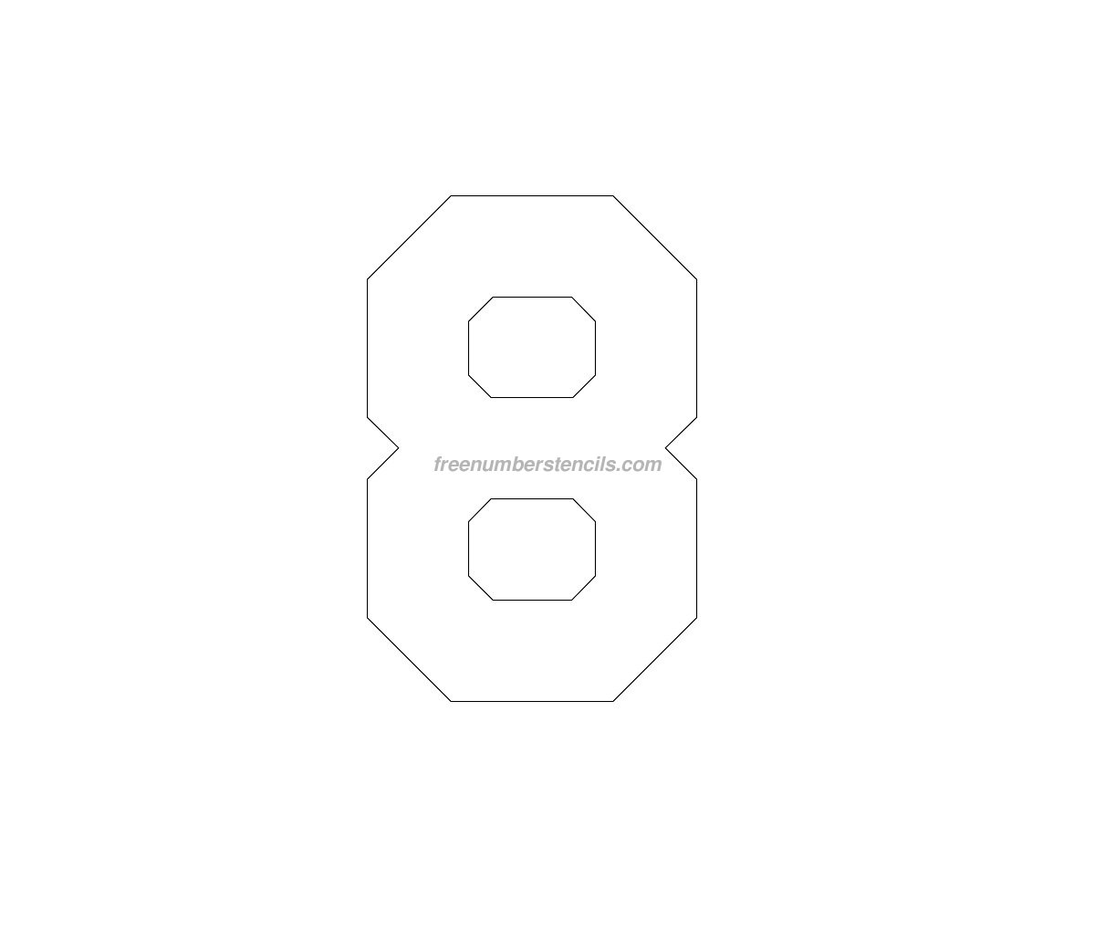 free jersey printable 8 number stencil